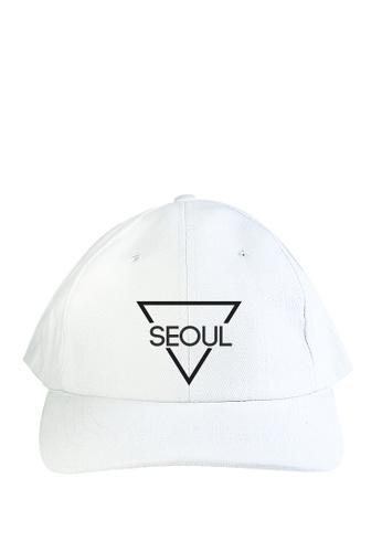 HYPE MNL white Seoul Baseball Cap 02487AC00F604AGS_1