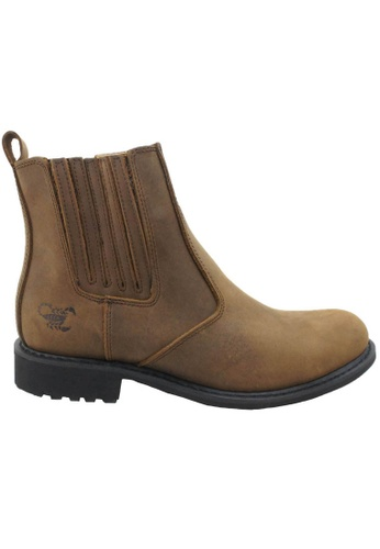 midzone brown Leather Boots SC378SH44IQPMY_1