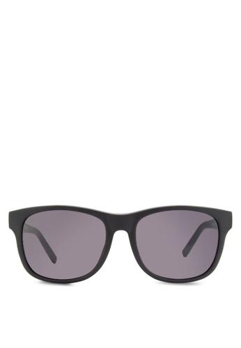Boss Orange black Trendy Faceted Temple Sunglasses BO434GL92HRRMY_1
