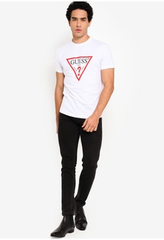 adcca57e 15% OFF Guess Classic Guess Triangle Logo Short Sleeve T-shirt S$ 79.00 NOW  S$ 66.90 Sizes M L XL