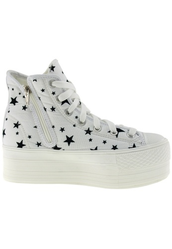 Maxstar white Maxstar Women's C50 7 Holes Zipper Platform Canvas High Top Star Sneakers US Women Size MA164SH44POTSG_1
