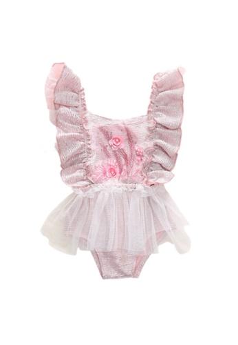RAISING LITTLE pink Fiona Tutu Playsuit - Pink 926AFKAFF6A7D1GS_1