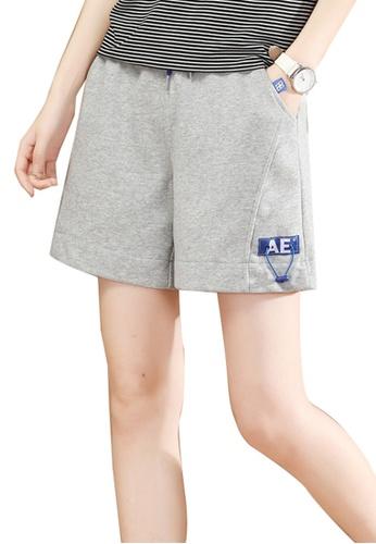 A-IN GIRLS grey Elastic Waist Casual Shorts 2EC53AAE5851F4GS_1
