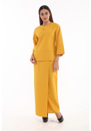 Amar Amran yellow and gold Baju Kurung Kedah Qaseh 1F020AA869BAE0GS_1