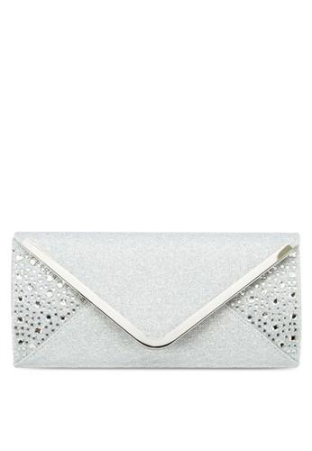 水鑽金飾信esprit衣服目錄封式手拿包, 包, 手拿包