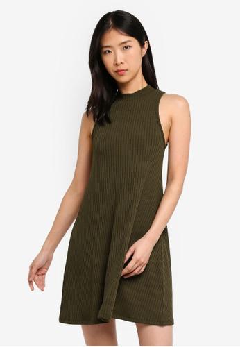 ZALORA BASICS green Basic Sleeveless Dress C3F54AA183048AGS_1