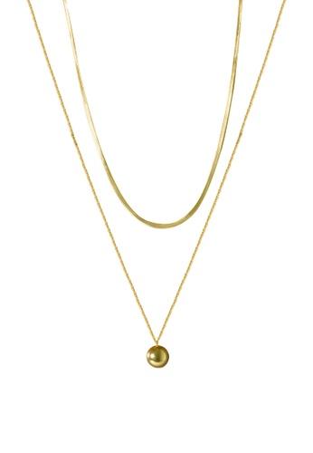 SKEDA gold Ball Necklace 6D822ACAA90ECFGS_1