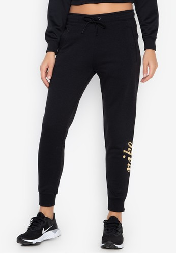 Nike black and multi As W Nsw Rally Pants Reg Metall 0FC0AAA3D081B8GS_1