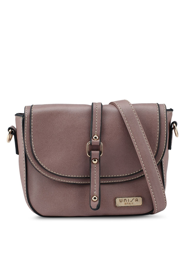 Usage Faux 2 Purple Way Sling Friday Bag Unisa Leather Black