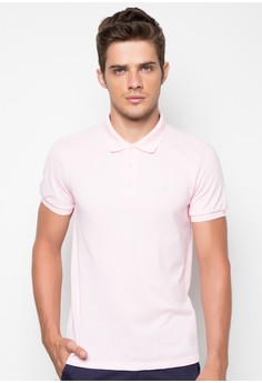 Men's Short Sleeve Polo Shirt with Contrast
