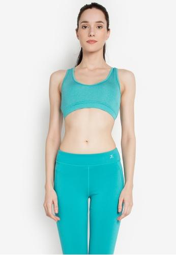 Danskin green Yoga Collection Skin Fit Crop Top DA964AA0KNA8PH_1