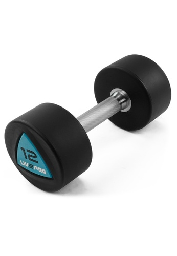 LIVE UP AND LIVE PRO. Livepro Urethane Round Dumbbells – Sold as Pair 12Kg F7139SE55BD205GS_1