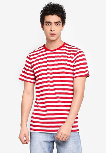 Cotton On red and multi Tbar Premium Crew Tee FB6B4AAF1F869AGS_1