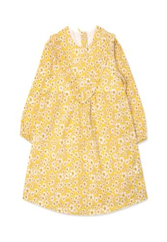 Organic mom yellow Organic Cotton Winnie Floral Dress 54806KA3448F1FGS_1