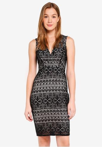 Dorothy Perkins black Lace Wrap Bodycon Dress DA515AADBD8B84GS 1 41b6d1a89