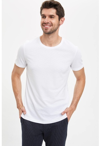 DeFacto white Man Knitted T-Shirt 8C495AA4A5BEFFGS_1
