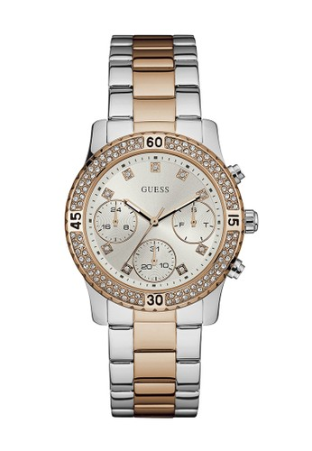 Guess Watch silver Guess Jam Tangan Wanita - Silver Rosegold - Stainless Steel - W0851L3  797E4ACEE5625EGS_1