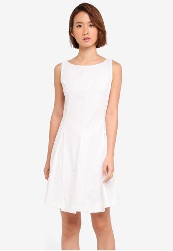 ZALORA white Box Pleat Dress 17A79AADE38A44GS_1