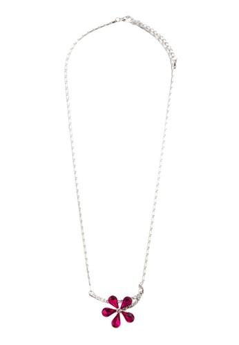 Edelweiss 閃鑽花飾吊墜項鍊, 飾品esprit 會員配件, 項鍊