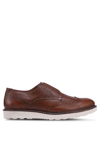 ACUTO brown Leather Dress Shoes 2A85CSHEFA4C95GS_1