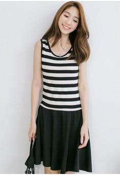 Swaying Frills Stripes Dress