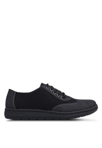 Rocklander black Mixed Material Sneakers 0AA71SH0C24685GS_1