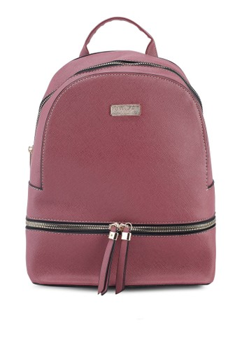 Unisa purple Saffiano Effect Backpack 32685ACD6D65DCGS_1