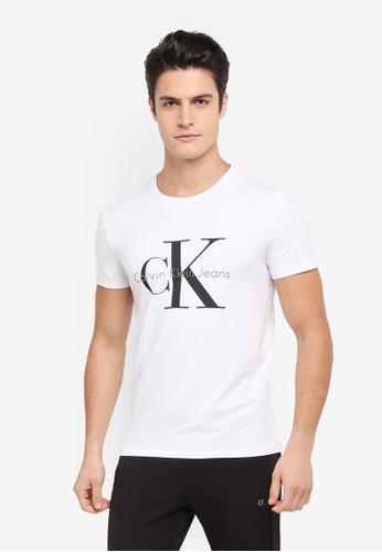 Calvin Klein white Tamasy Slim Crew Neck Short Sleeve T-Shirt - Calvin Klein Jeans EF9E0AA1F48BDDGS_1