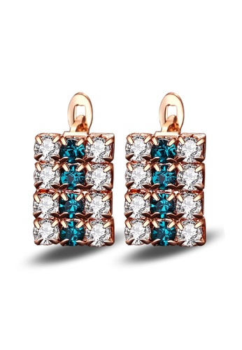 Kings Collection Fashion Crystal Rectangular Earrings 58353ACEA21C16GS_1