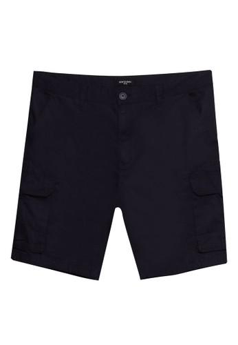 LC Waikiki navy Regular Fit Gabardine Cargo Shorts 6ABEFAA012E625GS_1