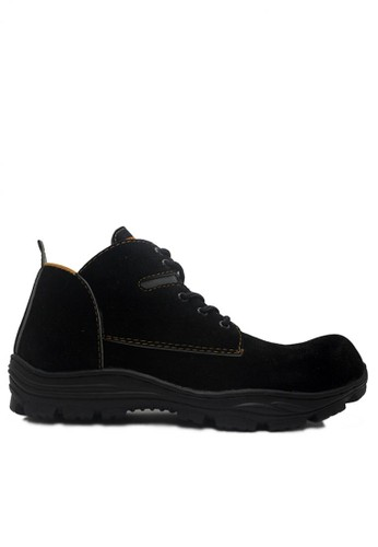 Cut Engineer black Cut Engineer Classic Safety Low Boots Suede Black CU226SH91XYQID_1