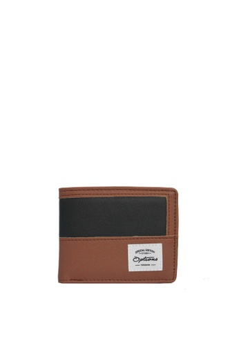 OPTIONS black and brown Options Button PU Wallet 27FE4AC2824CE4GS_1