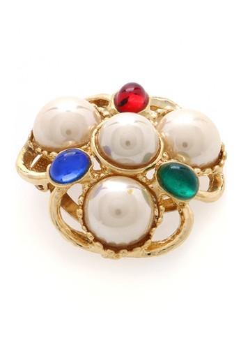 1901 Jewelry multi Pearl  Majesty Brooch 19910AC44LQDID_1