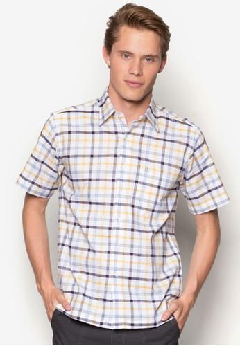 Armodinno 格紋短袖襯衫, 服飾esprit outlet 家樂福, 短袖襯衫