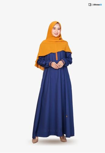 DTHREE blue Dthree - Raisya Muslim Dress Navy B2665AAD5D15E5GS_1