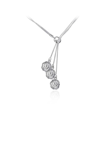 Glamorousky silver Elegant Noble Romantic Fashion Rose Flower Necklace 988E9AC0DA1252GS_1