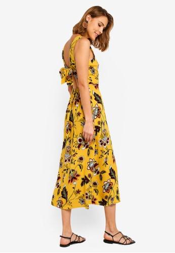 333382cf6b5f Buy WAREHOUSE Paisley Floral Midi Dress Online on ZALORA Singapore