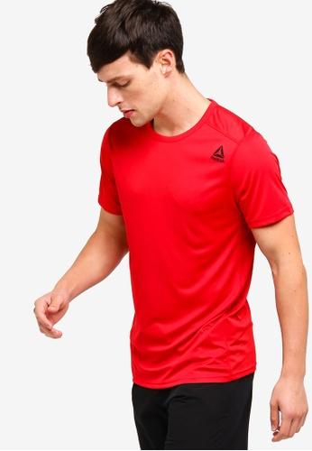 Reebok 紅色 短袖訓練T恤 22AE6AA678C173GS_1