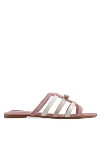 Velvet pink Caged Sandals D9E14SH6B3CF1BGS_1