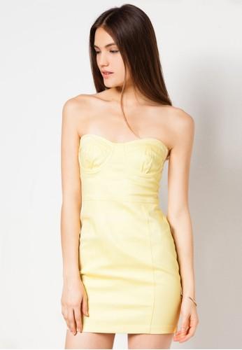 Up for Sunday Bustier Dress, 服飾, zalora 手錶 評價洋裝