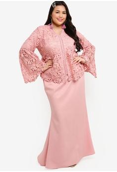 4fe0c2ccd3e1 25% OFF Lubna Flare Sleeves Lace Kebaya Set RM 289.00 NOW RM 216.90 Sizes  XXL XXXL XXXXL XXXXXL