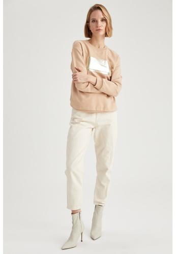 DeFacto brown Round Neck Sweatshirt 9D251AABE9BAD0GS_1