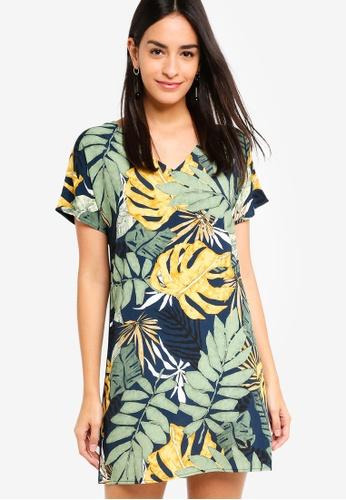 ZALORA multi Mix Material Floral Dress 7B81EAACDFE00AGS_1