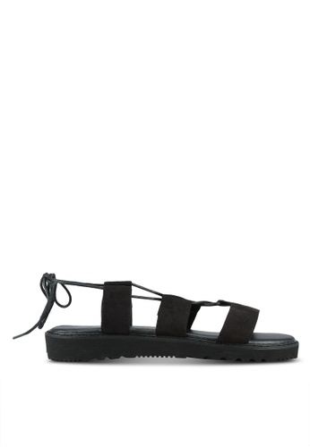 Something Borrowed black Lace Up Platform Gladiator Sandals ED655SH38EDD9DGS_1