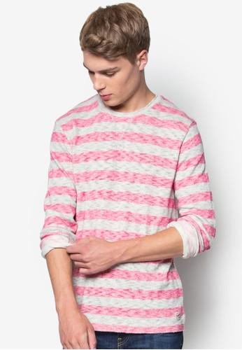 條紋圓領長袖衫,esprit 台灣官網 服飾, 服飾