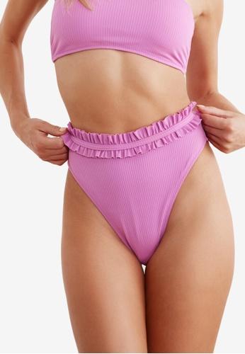 Trendyol purple Ruffle Bikini Bottom FA4B7US1D3ECBAGS_1