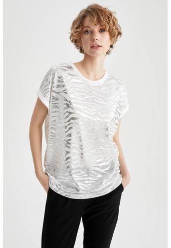 DeFacto beige Short Sleeve Cotton T-Shirt 89B78AA22652EBGS_1