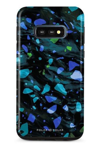 Polar Polar blue Ocean Terrazzo Gem Dual-Layer Tough Case Glossy For Samsung Galaxy S10E BE21FAC9AA85FDGS_1