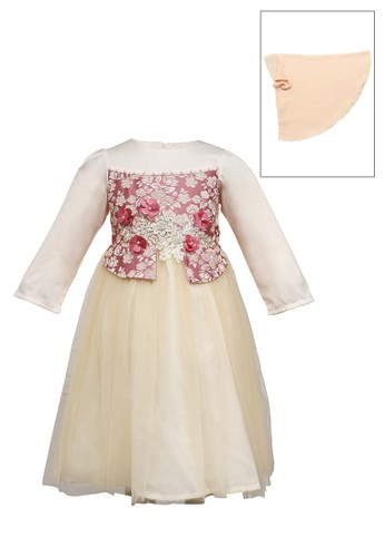 ESTRELLA beige Muslim Dress Anak ESM 155 4/10 3E760KA85F2C4BGS_1