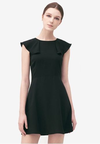 Kodz black Structured Minimal Dress A4F58AADAAD769GS_1